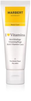 Marbert Basic Care I ♥ Vitamins bohatý krém pre suchú pleť