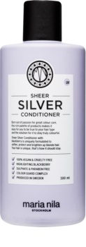 Maria Nila Sheer Silver Feuchtigkeit spendender Conditioner zum Neutralisieren von Gelbstich ohne Sulfat und Parabene