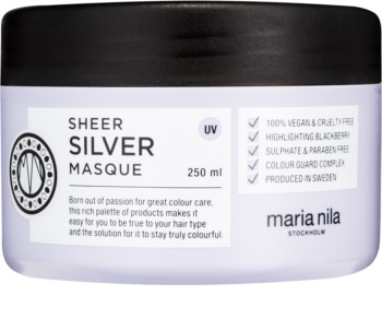 Maria Nila Sheer Silver hydratačná a vyživujúca maska pre blond vlasy