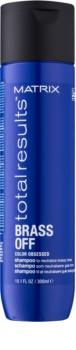Matrix Total Results Brass Off Shampoo zum Neutralisieren von Gelbstich