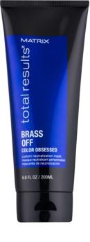 Matrix Total Results Brass Off máscara naturalmente neutralizante para cabelo descolorado