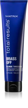 Matrix Total Results Brass Off thermo-crème de lissage pour cheveux indisciplinés
