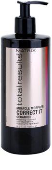 Matrix Total Results Miracle Morpher Correct it cuidado de cerámidas para cabello dañado, químicamente tratado