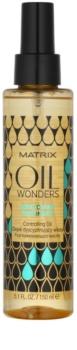 Matrix Oil Wonders óleo nutritivo  para brilho do cabelo ondulado encaracolado