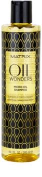Matrix Oil Wonders champô micro oleoso  para cabelo brilhante e macio