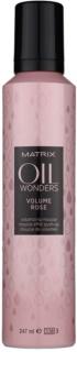 Matrix Oil Wonders Volume Rose espuma de cabelo para dar volume