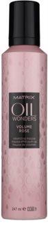 Matrix Oil Wonders Volume Rose pěna na vlasy pro objem