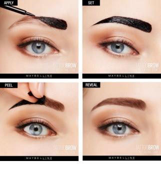 Maybelline Tattoo Brow Semi-permanente Gelfarbe für Augenbrauen