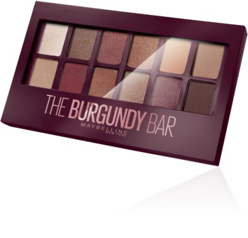 Maybelline The Burgundy Bar paleta očných tieňov