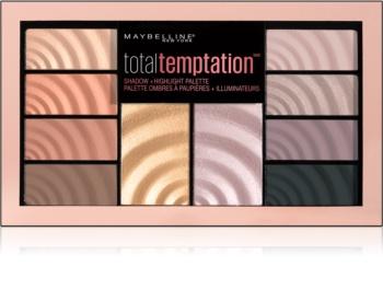 Maybelline Total Temptation paleta očných tieňov a rozjasňovačov