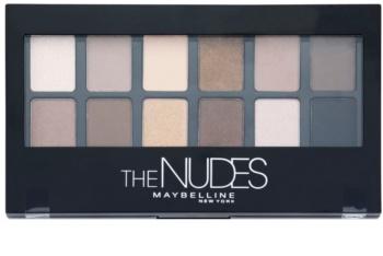 Maybelline The Nudes paletă cu farduri de ochi