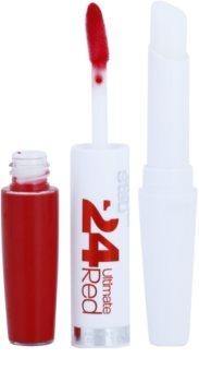 Maybelline SuperStay 24H Ultimate Red tekutá rtěnka s balzámem