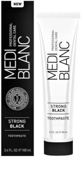 MEDIBLANC Strong Black fogkrém a  fogak teljes védelmére fehérítő hatással