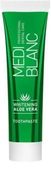 MEDIBLANC Whitening Aloe Vera pastă de dinți regeneratoare cu efect de albire