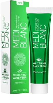 MEDIBLANC Whitening Aloe Vera regenerująca pasta do zębów o działaniu wybielającym