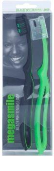 Megasmile Black Whitening Loop escova de dentes