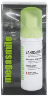 Megasmile Dental Snow pasta de dientes y enjuague bucal en un solo producto