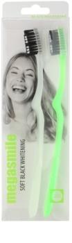 Megasmile Black Whitening Soft četkica za zube s aktivnim ugljenom za osjetljive zube