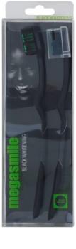 Megasmile Black Whitening Zahnbürste mit Aktivkohle