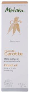 Melvita Huiles de Beauté Carotte óleo suavizante para um bronzeado natural para rosto e corpo
