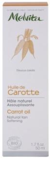 Melvita Huiles de Beauté Carotte zjemňující olej pro přirozené opálení na obličej a tělo