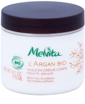Melvita L'Argan Bio Nourishing Body Cream for Soft and Smooth Skin
