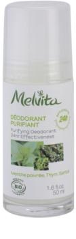 Melvita Les Essentiels deodorant roll-on fara continut de aluminiu 24 de ore