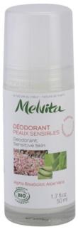 Melvita Les Essentiels deodorant roll-on fara continut de aluminiu pentru piele sensibila