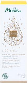 Melvita L'Or Bio gyengéd száraz olaj arcra, testre és hajra
