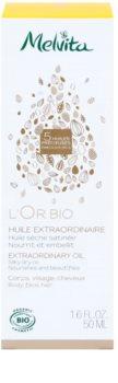 Melvita L'Or Bio jemný suchý olej na obličej, tělo a vlasy