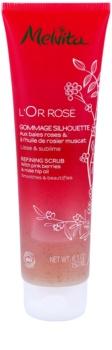 Melvita L'Or Rose exfoliante corporal para dejar la piel suave y lisa