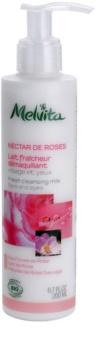 Melvita Nectar de Roses osviežujúce čistiace pleťové mlieko