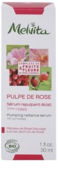 Melvita Pulpe de Rose rozjasňující sérum proti prvním známkám stárnutí pleti