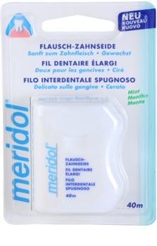 Meridol Dental Care hilo dental encerado con aroma de menta
