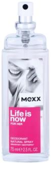 Mexx Life is Now for Her deodorant s rozprašovačom pre ženy 75 ml