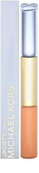Michael Kors Sporty Citrus Apa de toaleta roll-on pentru femei 2 x 5 ml + Balsam de buze