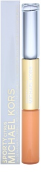 Michael Kors Sporty Citrus Eau de parfum roll-on para mujer 2 x 5 ml + brillo de labios
