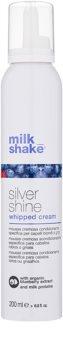 Milk Shake Silver Shine kremowa pianka do włosów blond neutralizujący żółtawe odcienie