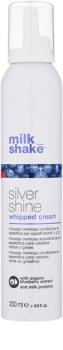 Milk Shake Silver Shine spumă cremoasă pentru păr blond neutralizeaza tonurile de galben