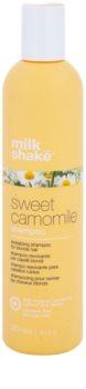 Milk Shake Sweet Camomile champô com camomila para cabelo loiro e grisalho
