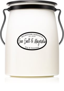 Milkhouse Candle Co. Creamery Sea Salt & Magnolia ароматна свещ  624 гр. Butter Jar