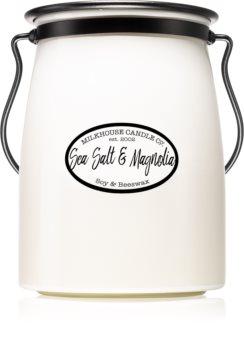 Milkhouse Candle Co. Creamery Sea Salt & Magnolia ароматна свещ  Butter Jar 624 гр.