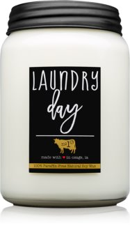 Milkhouse Candle Co. Farmhouse Laundry Day ароматна свещ  737 гр. Mason Jar