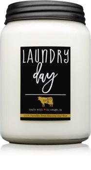 Milkhouse Candle Co. Farmhouse Laundry Day dišeča sveča  737 g Mason Jar