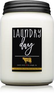 Milkhouse Candle Co. Farmhouse Laundry Day lumânare parfumată  737 g Mason Jar