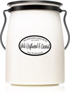 Milkhouse Candle Co. Creamery White Driftwood & Coconut lumânare parfumată  Butter Jar 624 g