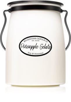 Milkhouse Candle Co. Creamery Pineapple Gelato dišeča sveča  624 g Butter Jar