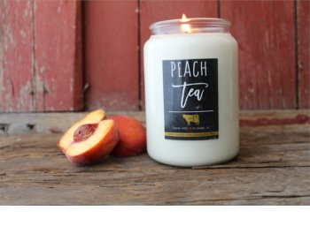 Milkhouse Candle Co. Farmhouse Peach Tea bougie parfumée 737 g Mason Jar