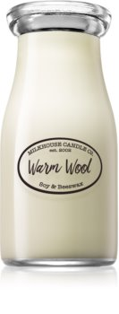 Milkhouse Candle Co. Creamery Warm Wool duftkerze  Milkbottle 227 g