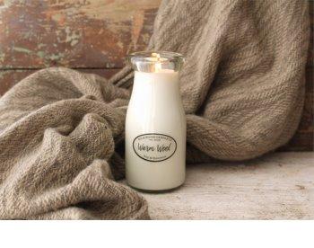 Milkhouse Candle Co. Creamery Warm Wool vonná svíčka 227 g Milkbottle
